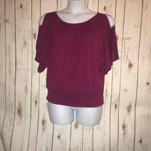 BCX Tops - 5/$10 BCX cold shoulder oversized blouse